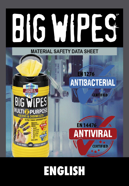 BIG WIPES -  Sikkerhedsblad - ENGLISH - ENGELSK