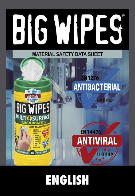 BIG WIPES -  Sikkerhedsblad - ENGLISH - ENGELSK